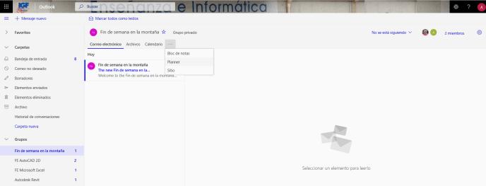 OWA Office 365 - Instituto Galego de Formación