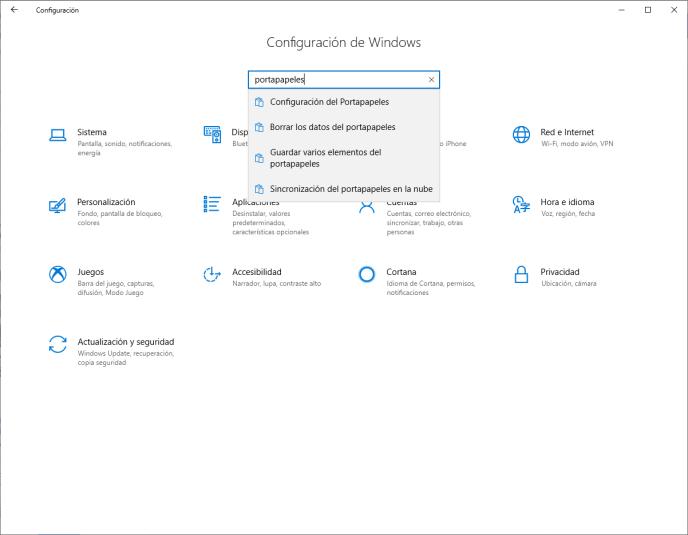 Portapapeles Windows 10 - Instituto Galego de Formación