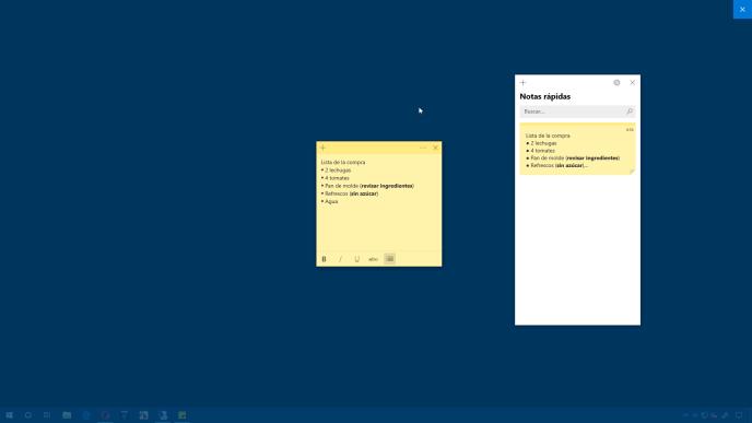 Crear Notas rápidas en Windows 10 - Instituto Galego de Formación