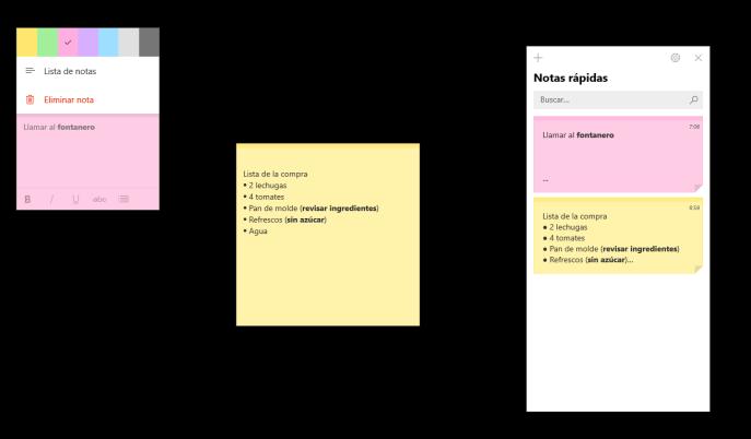 Modificar notas rápidas en Windows 10 - Instituto Galego de Formación