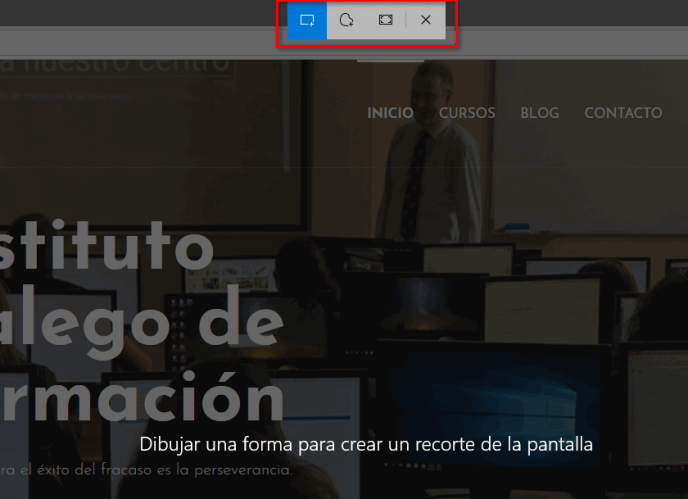 Recortes de Windows - Instituto Galego de Formación
