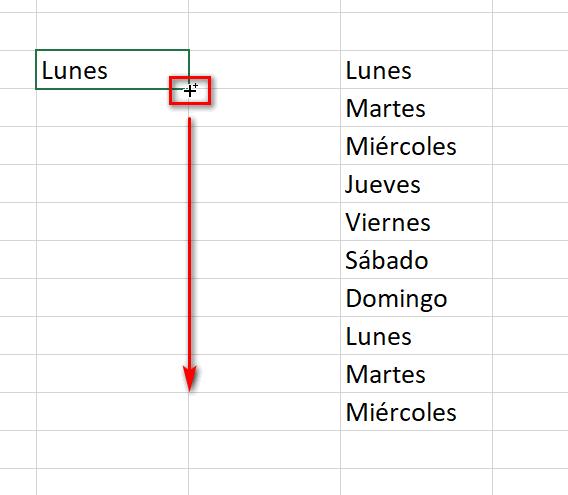 Controlador de relleno en Excel - Instituto Galego de Formación