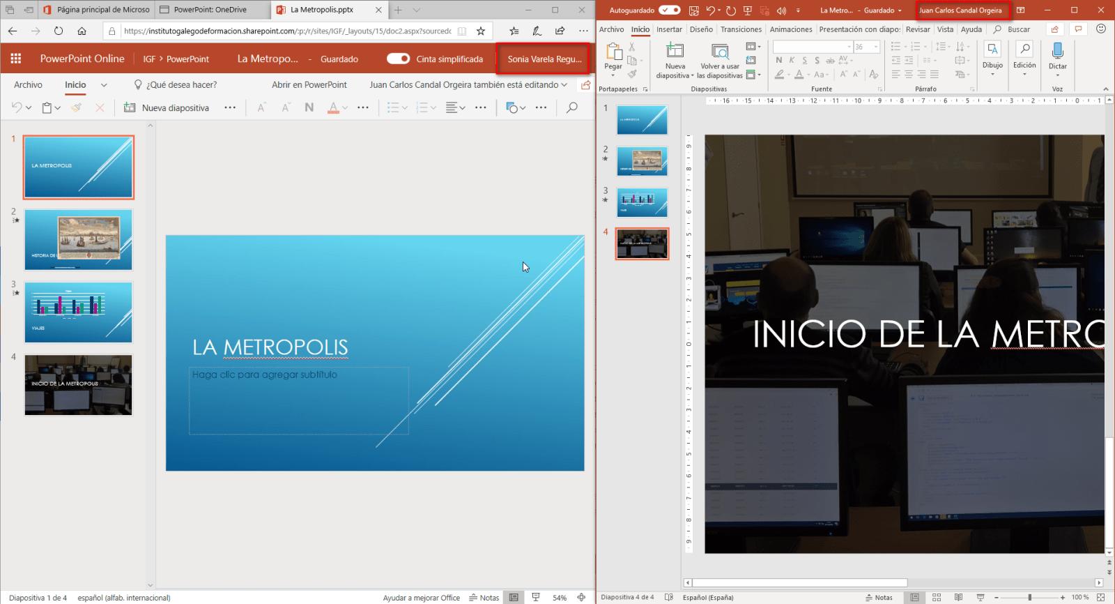 colaborar en powerpoint