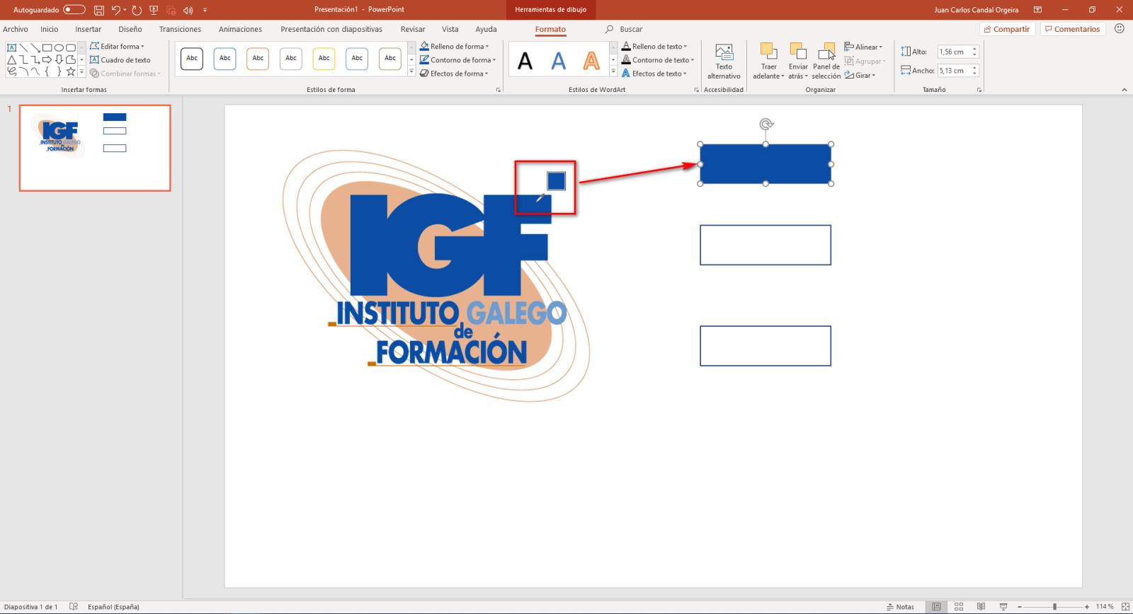 Cuentagotas en PowerPoint - Instituto Galego de Formación