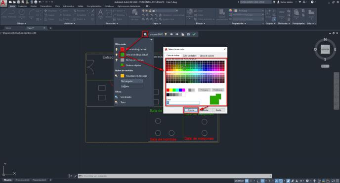 Modificar los colores comparar DWG - Instituto Galego de Formación