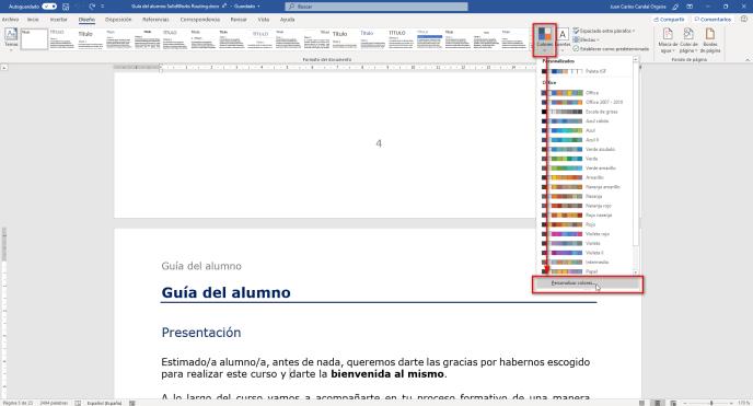 Personalizar colores - Instituto Galego de Formación