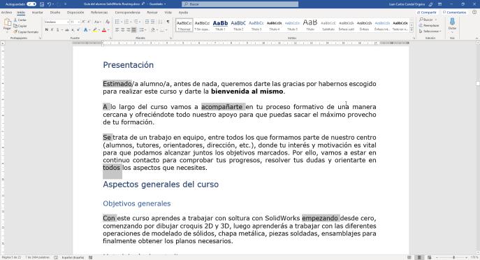Seleccionar varios textos separados - Instituto Galego de Formación