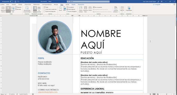 Introducir mis datos en el currículo en Word - Instituto Galego de Formación
