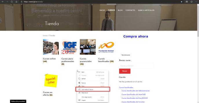 Ver el contenido del ordenador en la TV - Instituto Galego de Formación