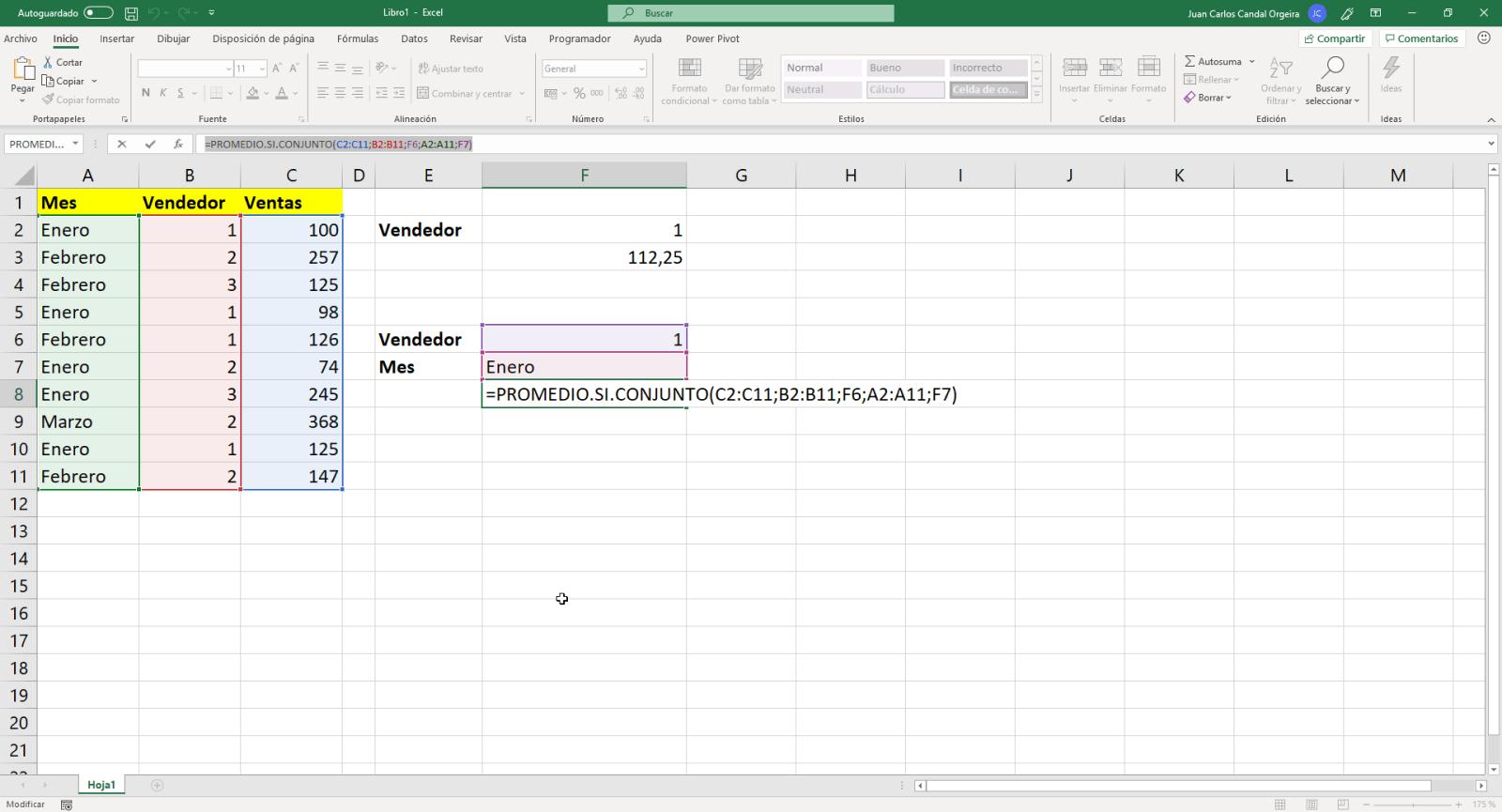 Función promedio.si.conjunto de Excel