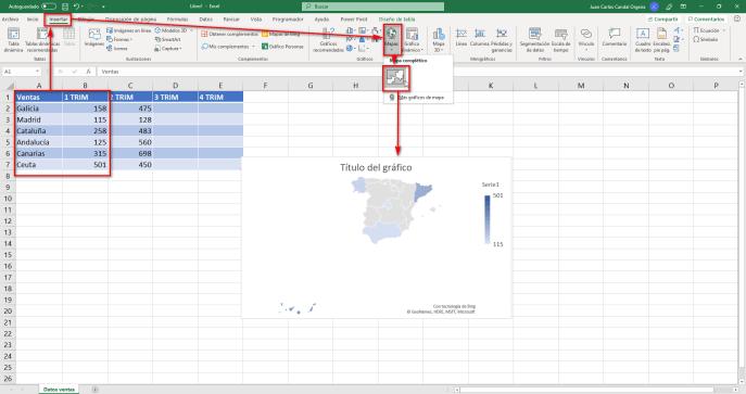 Representar datos en un mapa paso 2 - Instituto Galego de Formación