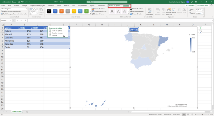 Representar datos en un mapa paso 4 - Instituto Galego de Formación