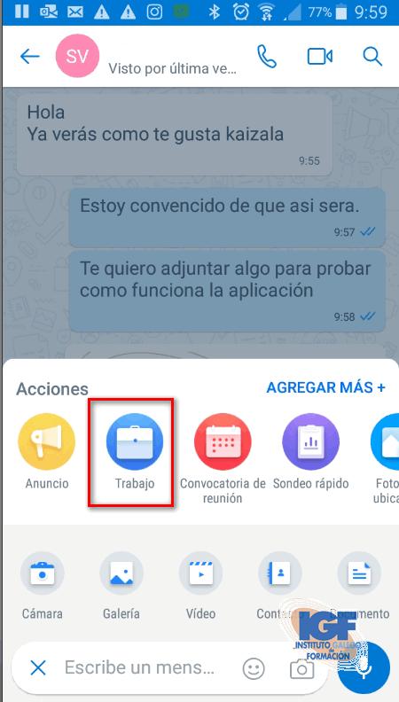 Asignar tareas con Microsoft Kaizala - Instituto Galego de Formación