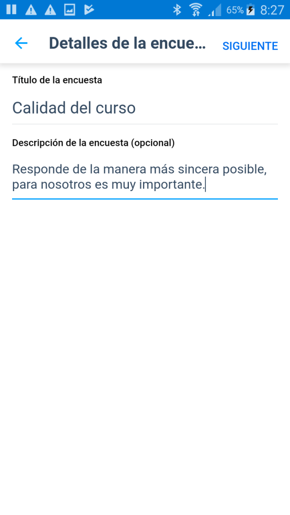 Crear una encuesta con Microsoft Kaizala - Instituto Galego de Formación