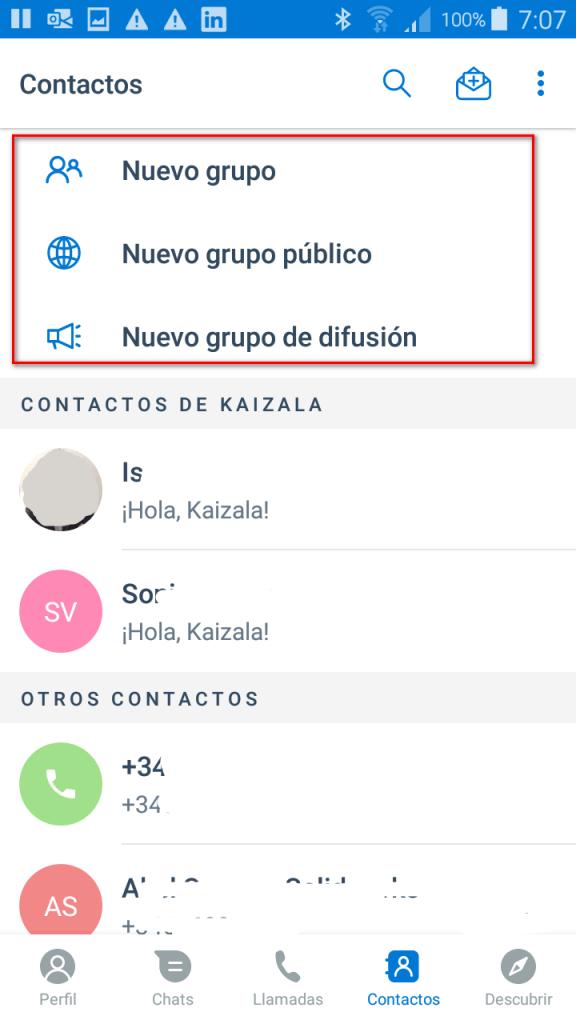 Escoge el tipo de grupo en Kaizala - Instituto Galego de Formación