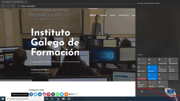 Recorte de pantalla en Windows 10 - igf.es