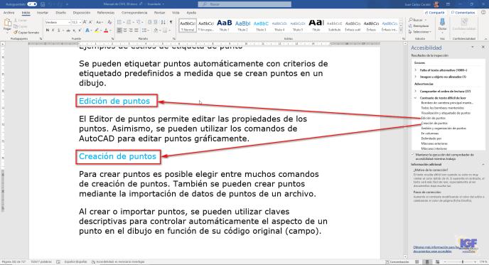 Contraste comprobar la accesibilidad en Microsoft Word - igf.es