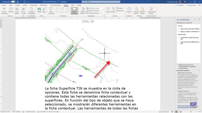 Resultado de comprobar la accesibilidad en Microsoft Word - igf.es