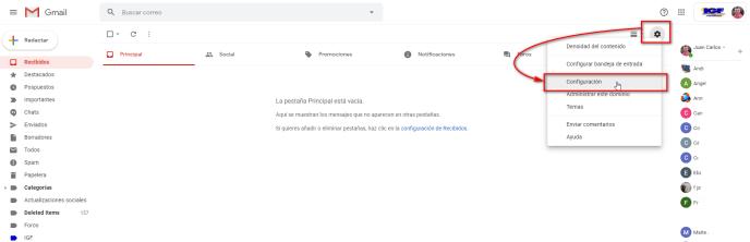 Deshacer el envío de correos en Gmail - igf.es