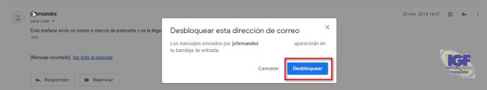 Desbloquear una cuenta en Gmail - igf.es