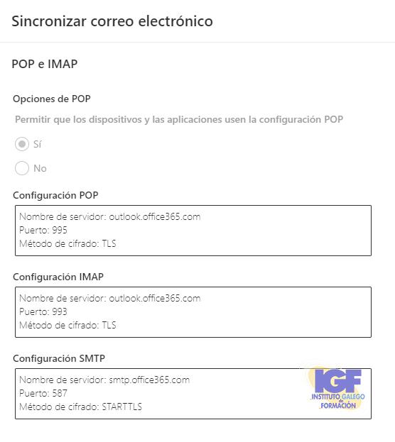 Sincronizar el correo electrónico en OWA - igf.es