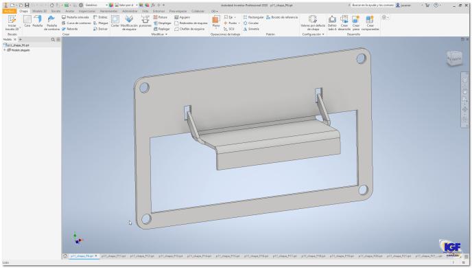 Chapa metálica con Autodesk Inventor