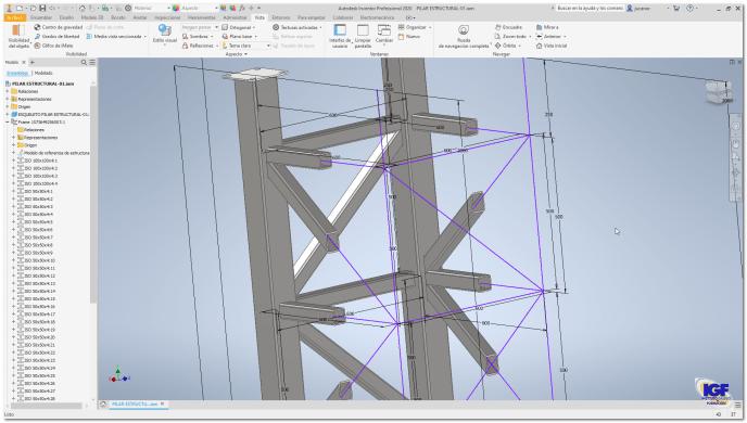 Estructuras metálicas en el curso de Autodesk Inventor -igf.es
