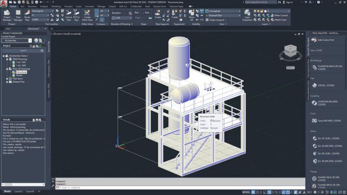 Estructuras  AutoCAD Plant 3D