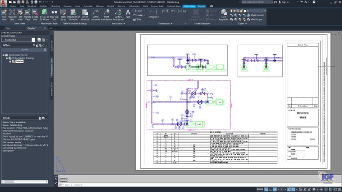 Planos de AutoCAD Plant 3D