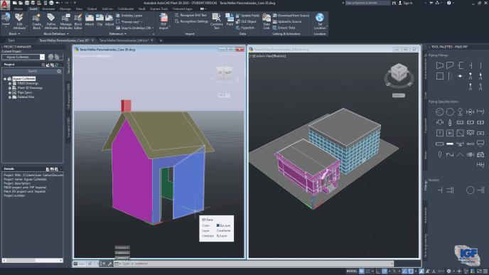 Tareas de los cursos de AutoCAD 2D y 3D - igf.es