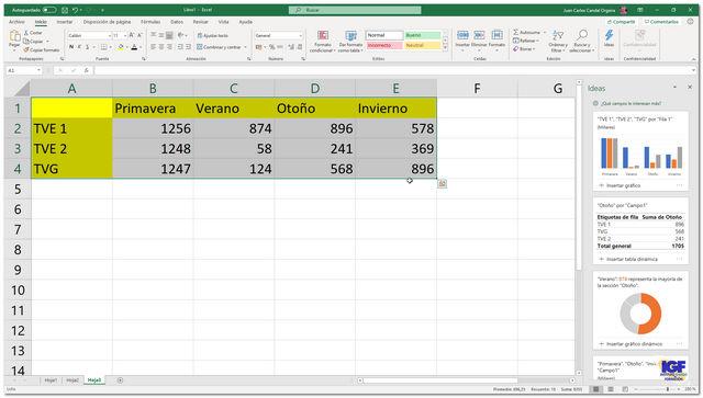Ideas en Microsoft Excel - igf.es
