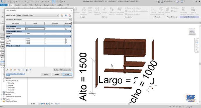 Tareas cursos Autodesk Revit - igf.es