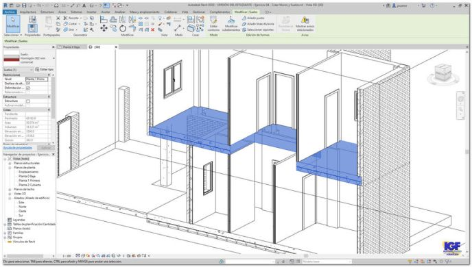 Tareas suelos cursos Autodesk Revit - igf.es