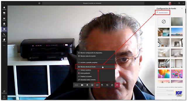 Personalizar fondo reunión en Teams - igf.es