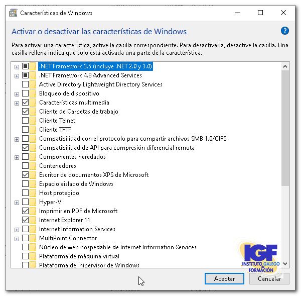 Características de Windows - igf.es