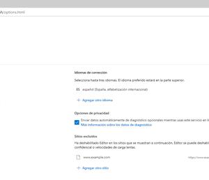 Configurar Microsoft Editor