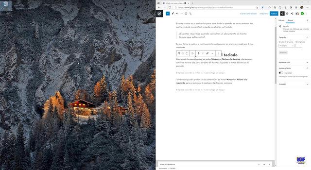 Dividir la pantalla en Windows 10 - igf.es