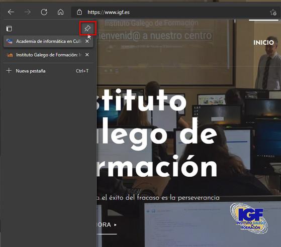 Anclar panel pestañas verticales - igf.es