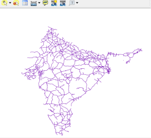 India Rail - Merge more than two Shapefile in QGIS
