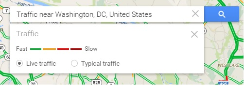 Know Live Congestion Or Future Traffic On Google Map
