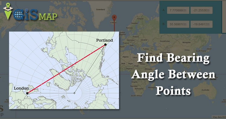 Formula to Find Bearing or Heading angle between two points: Latitude Longitude
