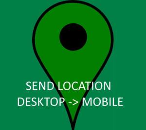Send Place location from Desktop Google Map to Android or iOS Google Map App