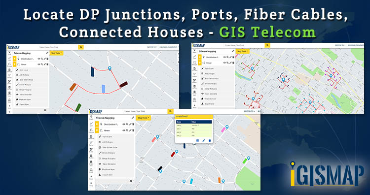 Locate DP Junctions, Ports, Fiber Cables, Connected Houses – GIS Telecom
