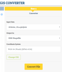 Online Conversion - Geojson to SHP Shapefile