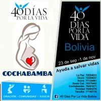 Cochabamba se une a la campaña 40 Días por la Vida