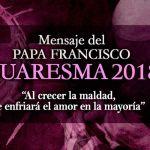 Mensaje del Papa de Cuaresma