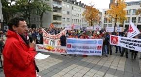 Krefelder Aufschrei – IG Metall Krefeld mit Kundgebung vor dem Rathaus