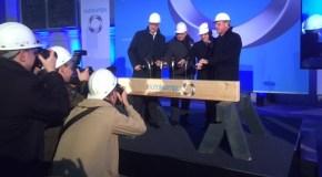 Tarifvertrag wirkt! Richtfest der neuen Haubenglüherei der Outokumpu Nirosta in Krefeld