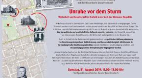 Samstag 31. August – Einladung zum gewerkschaftlichen Stadtrundgang mit der Historikerin Irene Feldmann