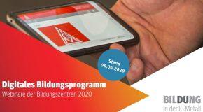 Bildung bleibt in Bewegung – Das digitale Bildungsprogramm ist da!